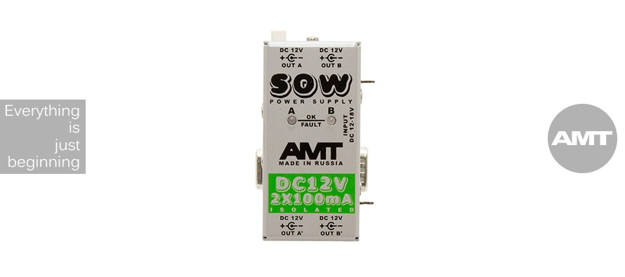 AMT SOW PS-2 DC-12V 2x100mA