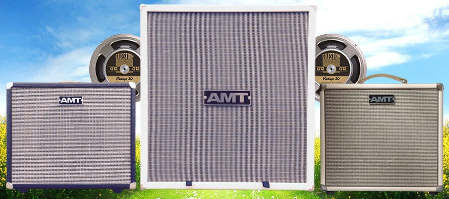 The newest AMT guitar cabinets, Celestion VINTAGE 30 speakers and JJ ECC 83S tubes are available now!